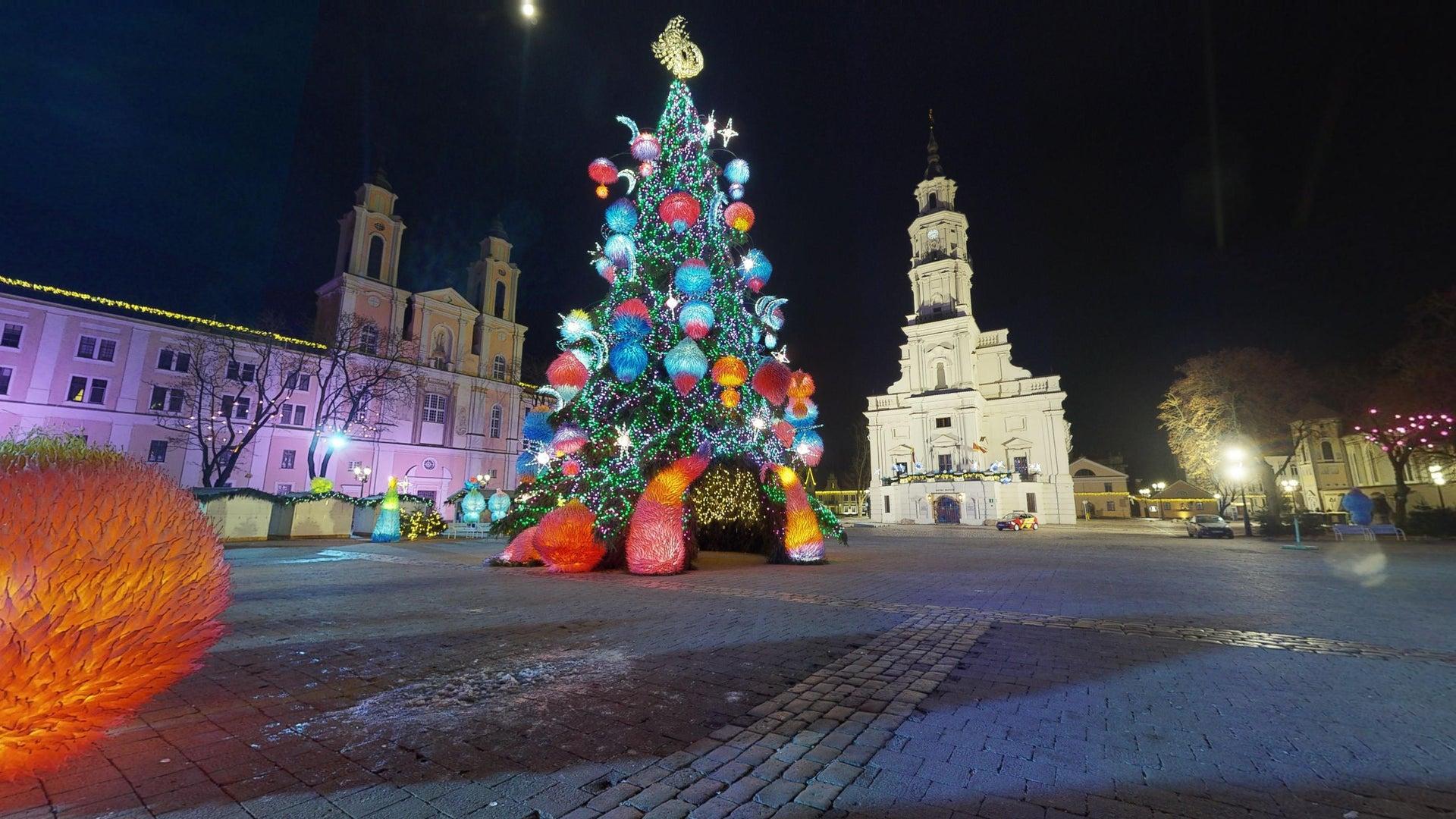 Kauno Kalėdų Eglės 2019 virtualus 3D turas