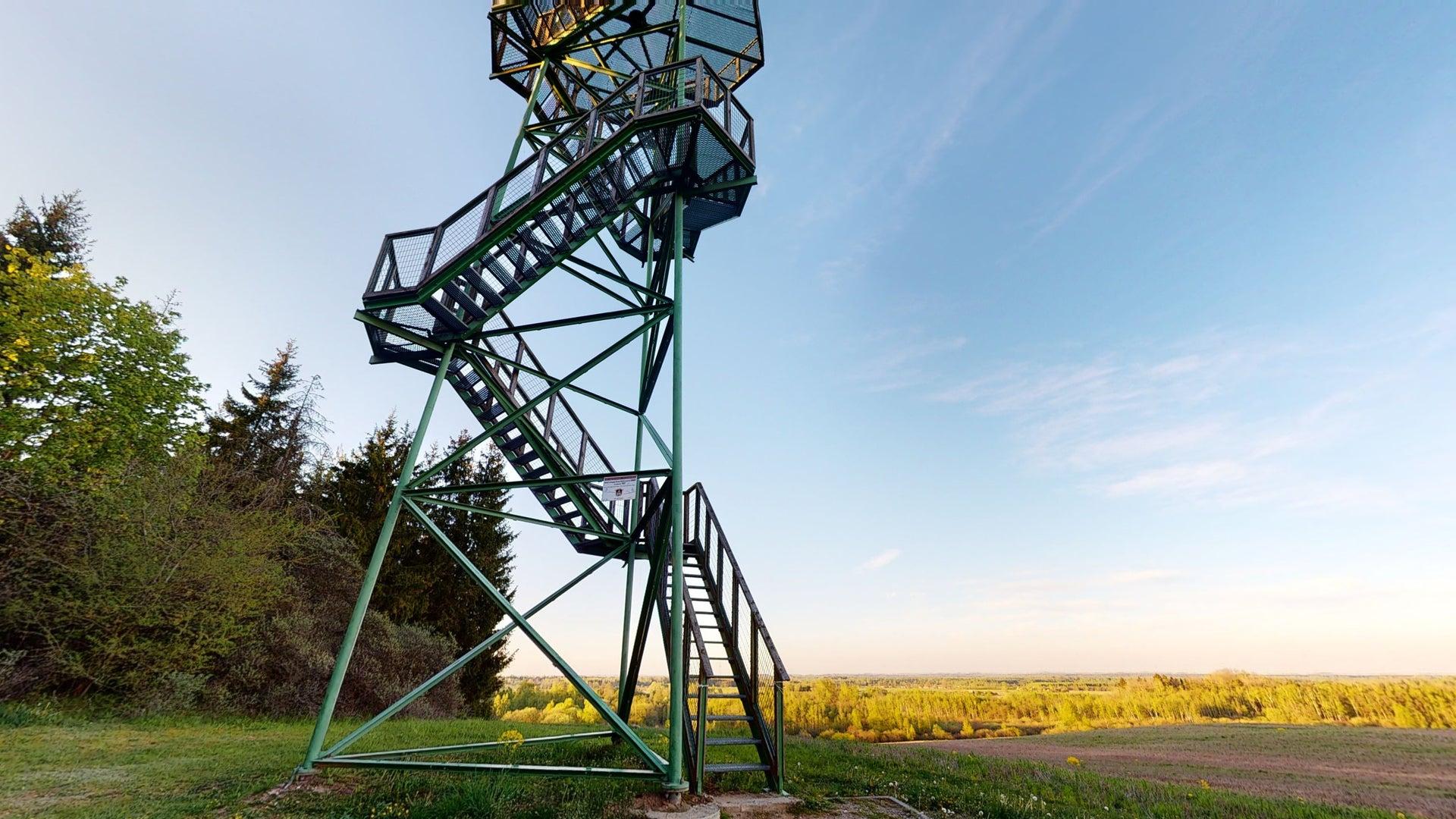 Tytuvėnų apžvalgos bokšto virtualus 3D turas