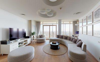 Apartamentai 23-iame aukšte – virtualus 3D turas